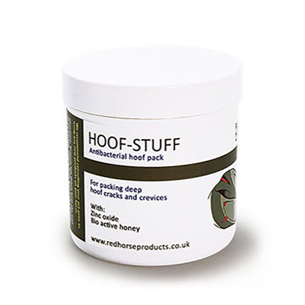Hoof-Stuff plugs deep holes and cracks that leave hooves susceptible to microbial invasion.